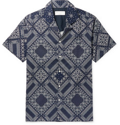 Officine Generale Dario Slim-Fit Camp-Collar Printed Cotton Shirt