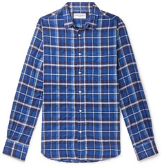 Officine Generale Checked Cotton-Blend Shirt