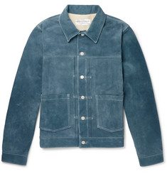 Officine Generale Leo Suede Trucker Jacket