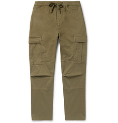 Officine Generale Jay Slim-Fit Tapered Cotton-Blend Cargo Trousers