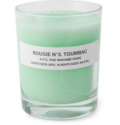 A.P.C. No 3 Toumbac Scented Candle, 150g