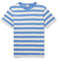 Armor Lux Striped Cotton and Linen-Blend T-Shirt