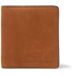 Brunello Cucinelli Nubuck Billfold Wallet with Money Clip