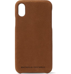 Brunello Cucinelli Nubuck iPhone X Case
