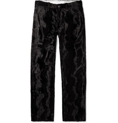 Martine Rose Black Augustus Faux Fur Trousers