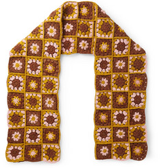 Story Mfg. Crocheted Organic Cotton Scarf