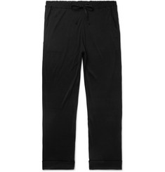 Secondskin Tapered Silk-Jersey Sweatpants