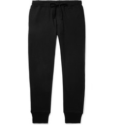 Secondskin Slim-Fit Tapered Mélange Loopback Cotton-Jersey Sweatpants