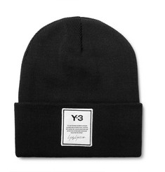 Y-3 Logo-Appliquéd Cotton Beanie