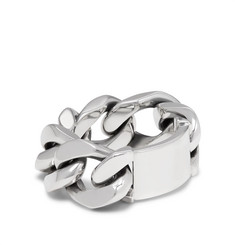 Bottega Veneta - Sterling Silver Chain Ring