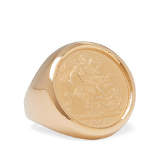 Bottega Veneta - Gold-Plated Signet Ring