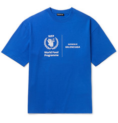 Balenciaga + World Food Programme Printed Cotton-Jersey T-Shirt