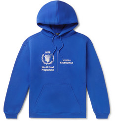 Balenciaga + World Food Programme Logo-Print Fleece-Back Cotton-Jersey Hoodie