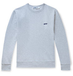 AFFIX Logo-Embroidered Mélange Loopback Cotton-Jersey Sweatshirt