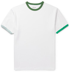 Bellerose Contrast-Tipped Cotton-Jersey T-shirt