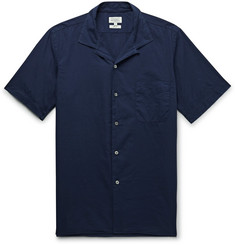Hartford Slim-Fit Camp-Collar Cotton-Poplin Shirt