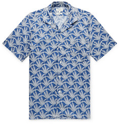 Hartford Slim-Fit Camp-Collar Printed Cotton Shirt