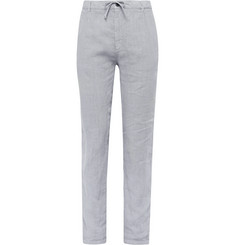 Hartford Light-Grey Linen Drawstring Trousers