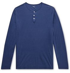 Hartford Cotton-Jersey Henley T-Shirt