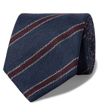 Bigi Ties 8CM STRIPED WOOL TIE