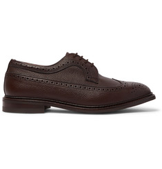 Tricker's Olivia Pebble-Grain Leather Longwing Brogues