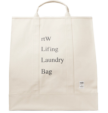 Printed Cotton Canvas Laundry Bag by Reta W