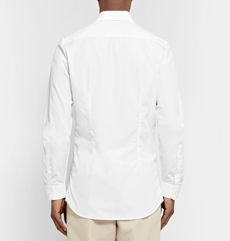 Gucci T-shirts SLIM-FIT COTTON-POPLIN SHIRT