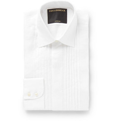 Favourbrook Ivory Bib-Front Cotton-Voile Shirt