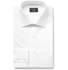 Emma Willis White Slim-Fit Cotton Oxford Shirt