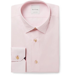 Paul Smith Light-Pink Soho Slim-Fit Cotton-Poplin Shirt