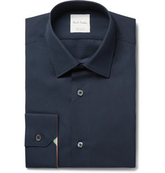 Paul Smith Navy Soho Slim-Fit Cotton-Poplin Shirt