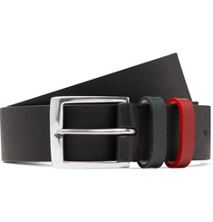 Paul Smith 3cm Black Textured-Leather Belt