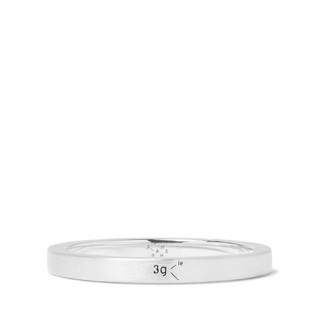 Le Gramme Le 3 Brushed Sterling Silver Ring