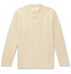 Folk Grandad-Collar Linen and Cotton-Blend Shirt