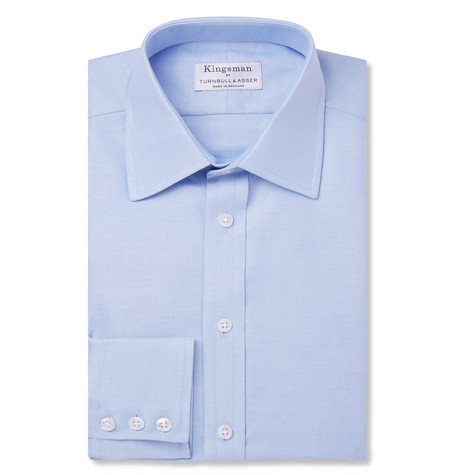 Kingsman + Turnbull & Asser Blue Cotton Royal Oxford Shirt