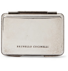 Brunello Cucinelli Silver-Tone Card Case