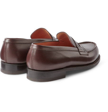 J.m. Weston 180 The Moccasin Leather Loafers In Brown