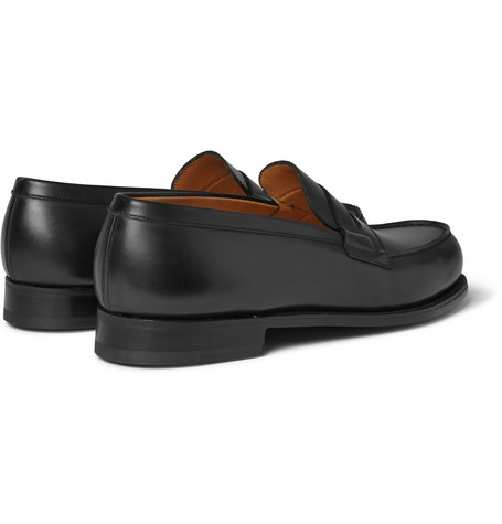 J.m. Weston 180 The Moccasin Leather Penny Loafers In Black