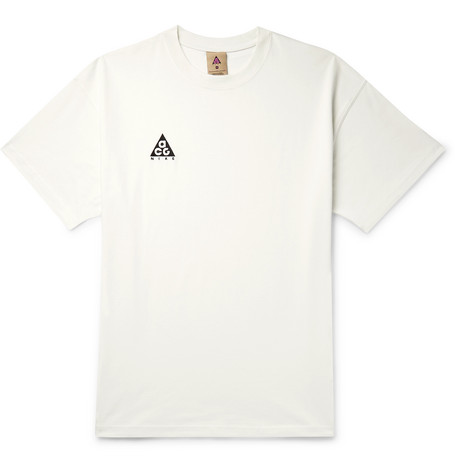 Nike ACG NRG Oversized Logo-Embroidered Cotton-Jersey T-Shirt