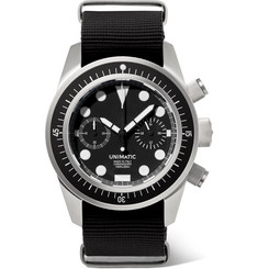 Unimatic U3-F Automatic Chronograph Stainless Steel and NATO Webbing Watch
