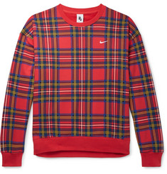 Nike NRG Checked Loopback Cotton-Blend Jersey Sweatshirt