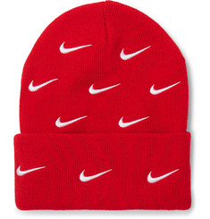 Nike NRG Logo-Embroidered Stretch-Knit Beanie