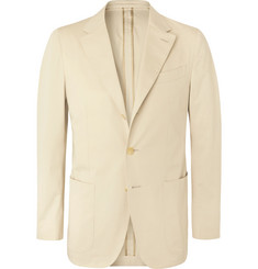 Caruso Light-Beige Butterfly Cotton-Blend Suit Jacket