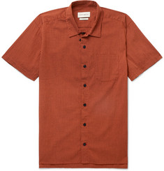 Oliver Spencer Camp-Collar Organic Cotton-Blend Seersucker Shirt