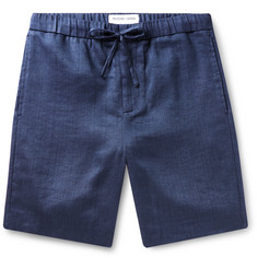 Frescobol Carioca Felipe Linen and Cotton-Blend Drawstring Shorts