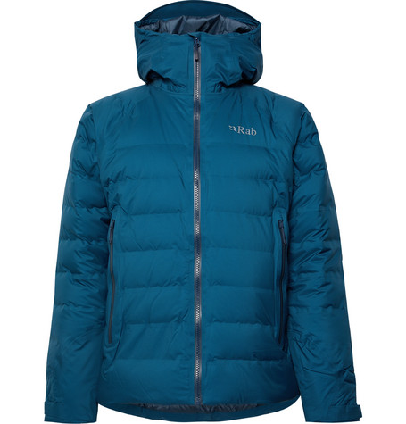 Rab Valiance Quilted Ripstop Hooded Down Jacket
