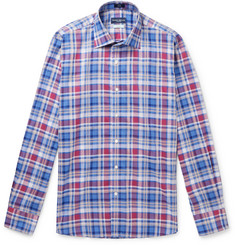 Peter Millar Checked Cotton-Chambray Shirt