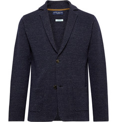 Peter Millar Navy Concorde Linen and Merino Wool-Blend Blazer