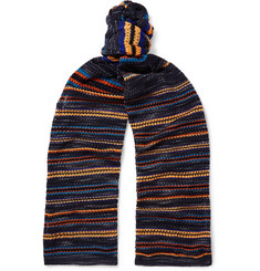 Missoni Striped Crochet-Knit Cotton-Blend Scarf