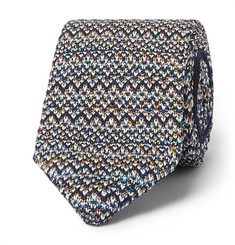 Missoni 6cm Crotchet-Knit Cotton and Silk-Blend Tie